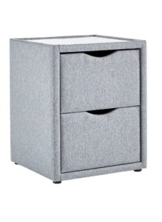 Luxury 2 Drawer Bedside Chest - Ash
