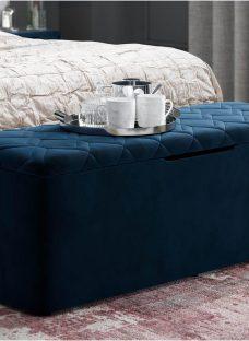 Neva Blue Blanket Box
