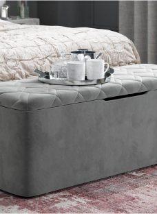 Neva Grey Blanket Box