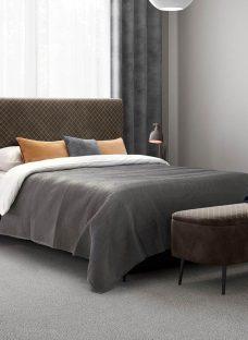 Ren K Bed Grey (Solid Slats) 5'0 King BROWN