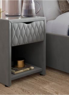 Grove Grey Bedside Table with USB