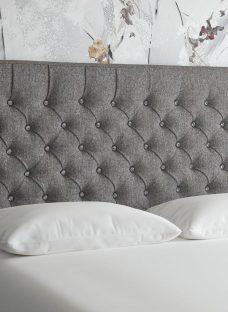 Florentine S Strutted H/B Tweed Grey 3'0 Single