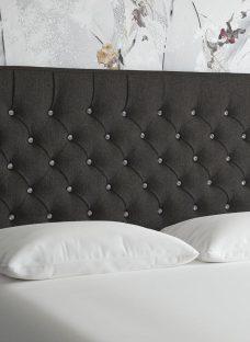 Florentine K Strutted H/B Tweed Charcoal 5'0 King BLACK