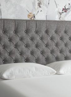 Florentine 4'0 Full Height H/B Tweed Grey 4'0 Small double
