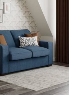Odessa 3 Seater Sofa Bed Standard - Royal Blue 3 Seater