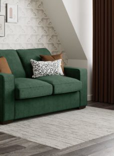 Odessa 2 Seater Sofa Bed Standard - Emerald Green 2 Seater