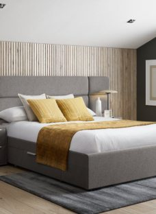 Hart Bed Frame With Bedside Chests 5'0 King GREY