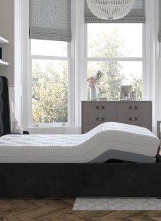 Deacon Sleepmotion 400i Adjustable Upholstered Bed Frame 4'6 Double GREY