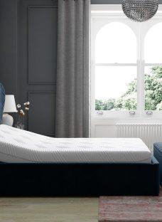 Neva Sleepmotion 100i Blue Adjustable Upholstered Bed Frame 4'6 Double