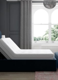 Neva Sleepmotion 400i Blue Adjustable Upholstered Bed Frame 6'0 Super king