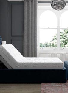 Neva Sleepmotion 400i Blue Adjustable Upholstered Bed Frame 4'6 Double