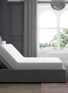 Neva Sleepmotion 400i Grey Adjustable Upholstered Bed Frame 5'0 King