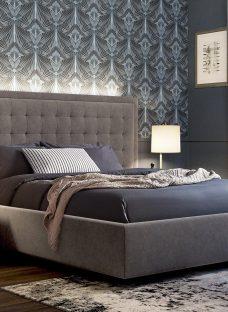 Hodgson D Grey Bed (Sprung Slats) 4'6 Double