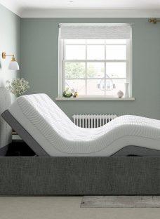 Lucia Sleepmotion 400i Adjustable Upholstered Bed Frame 5'0 King GREY
