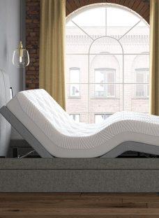 Seoul Sleepmotion 400i Adjustable TV Bed Frame 4'6 Double GREY