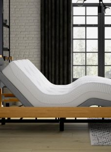 Hastings Sleepmotion 400i Adjustable Wooden Bed Frame 6'0 Super king BROWN