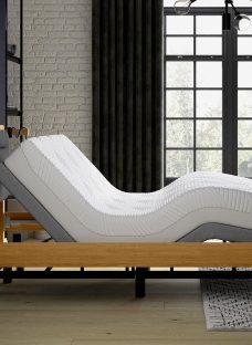 Hastings Sleepmotion 400i Adjustable Wooden Bed Frame 5'0 King BROWN