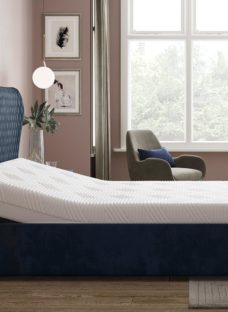 Grove Sleepmotion 100i Blue Adjustable Upholstered Bed Frame 4'6 Double
