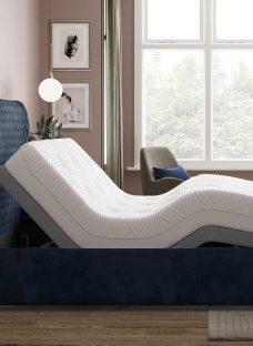 Grove Sleepmotion 400i Blue Adjustable Upholstered Bed Frame 5'0 King