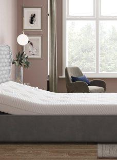 Grove Sleepmotion 100i Grey Adjustable Upholstered Bed Frame 4'6 Double