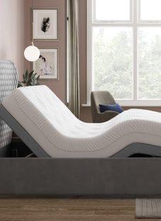 Grove Sleepmotion 400i Grey Adjustable Upholstered Bed Frame 4'6 Double