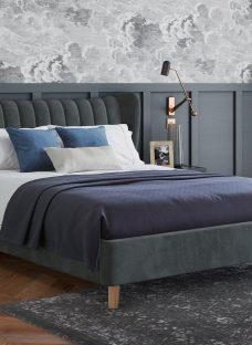 Knox Upholstered Bed Frame 6'0 Super king GREY