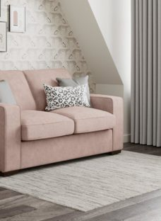 Odessa 3 Seater Sofa Bed Standard - Blush 3 Seater PINK