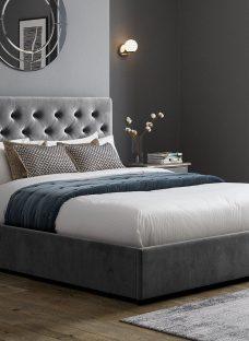 Carlton Ottoman Bed Frame 5'0 King GREY