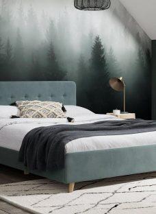 Emmerson Upholstered Bed Frame - Blue 3'0 Single