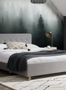 Emmerson Upholstered Bed Frame - Grey 4'6 Double