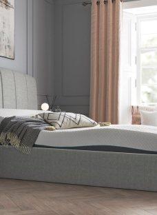 "Seoul K Grey TV Bed Sleepmotion 200i 43"" Smart TV 5'0 King"