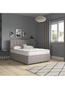 Sleep and Snooze 4 Drawer Divan Base - Grey Small Double