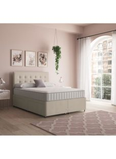Sleep and Snooze Beige 4 Drawer Divan Base - Beige Small Double