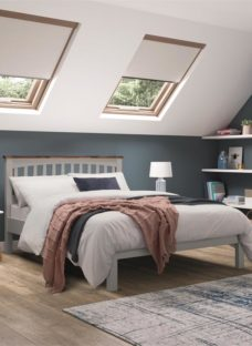 Miles Wooden Two Tone Bedframe - Grey Double
