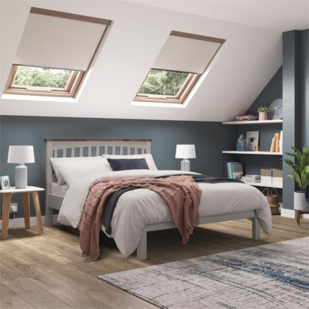 Miles Wooden Two Tone Bedframe - Grey King