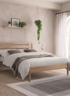 Ronney Wooden Bedframe - Ash Small Double