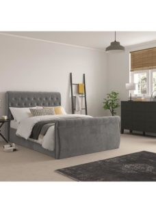 Smithers Fabric Bedframe - Grey King
