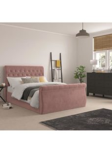 Smithers Fabric Bedframe - Pink Double