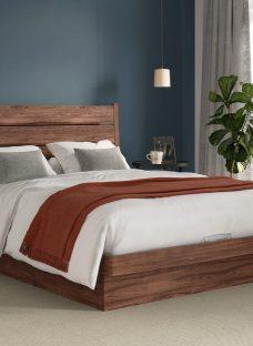 Lodge Platform Ottoman Bed Frame 5'0 King BROWN