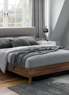 Florence Velvet-Finish Shadow Ottoman Bed Frame 5'0 King GREY